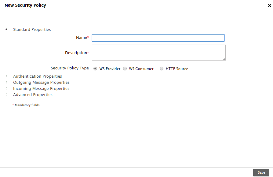 Creating Security Policy Activity for Web Services - Adeptia Suite