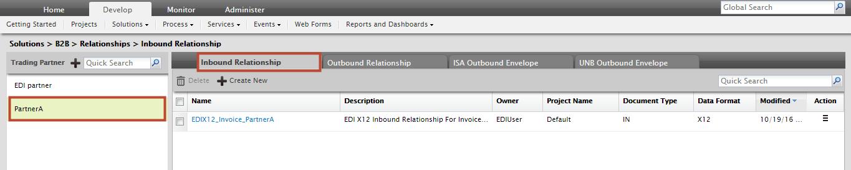 Creating Inbound Relationship for EDI Data - Adeptia Suite