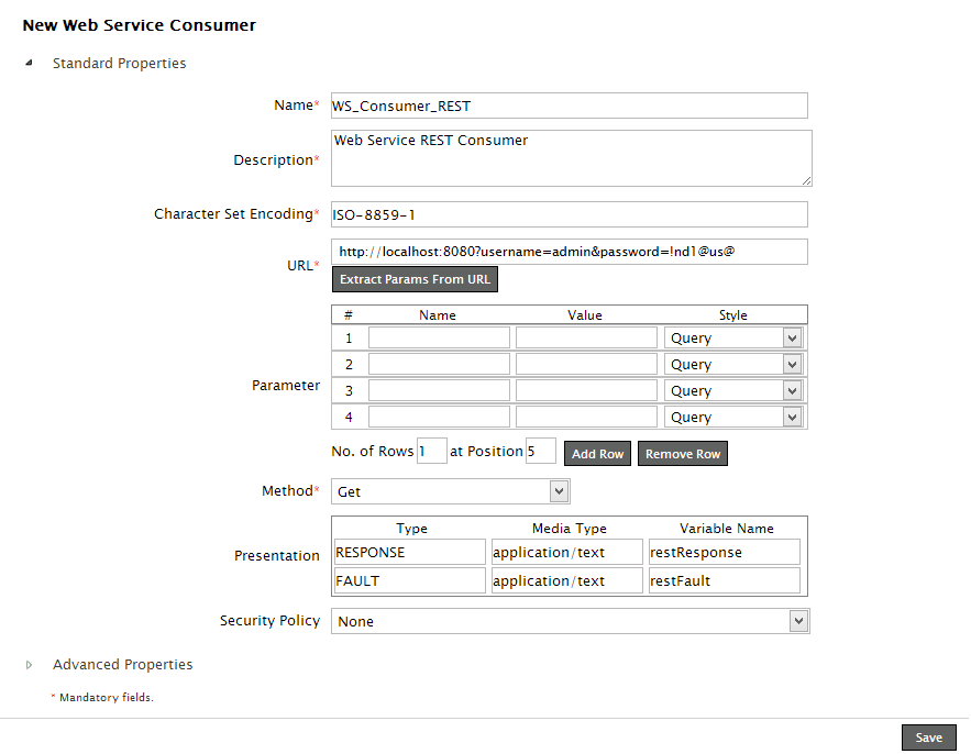 Creating Web Service Consumer Activity to Access RESTful Web